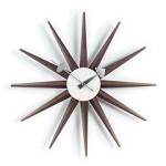 Vitra Sunburst Clock in walnoot